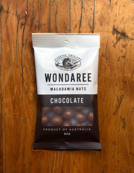 Wondaree Macadamias Chocolate 80g