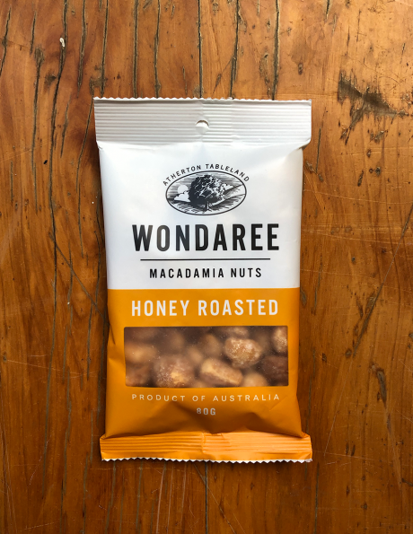 Wondaree Macadamias Honey Roasted 80g