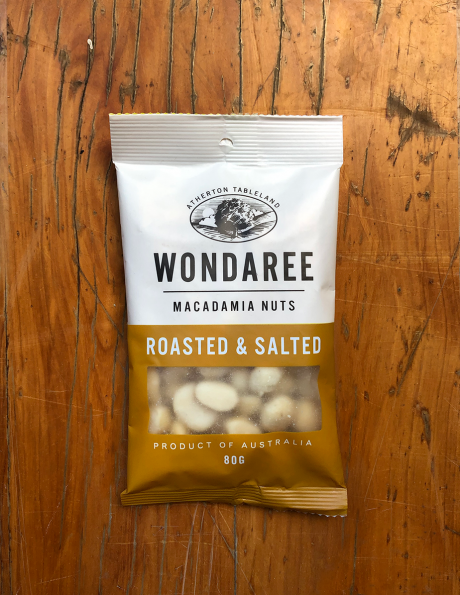 Wondaree Macadamias Roasted & Salted 80g