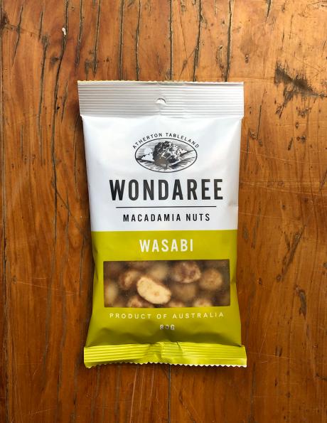 Wondaree Macadamias Wasabi 80g