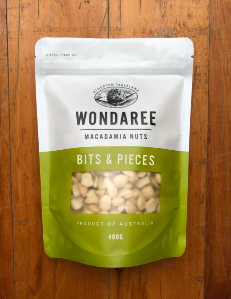 Wondaree Macadamias Bits & Pieces 400g
