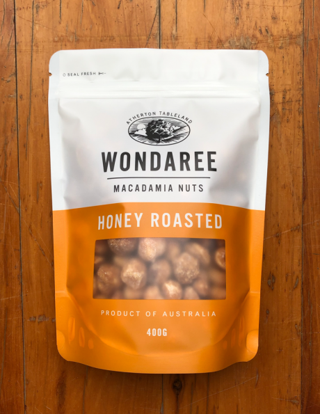 Wondaree Macadamias Honey Roasted 400g