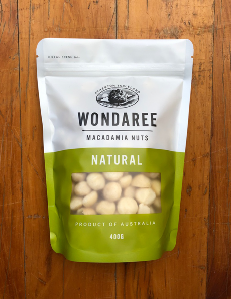 Wondaree Macadamias Natural 400g