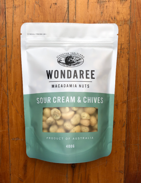 Wondaree Macadamias Sour Cream & Chives 400g