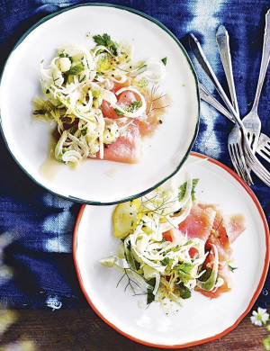 Smoked trout with fennel, macadamia and pepper berry - Wondaree
