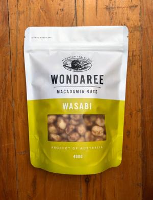 Wondaree Macadamias Wasabi 400g